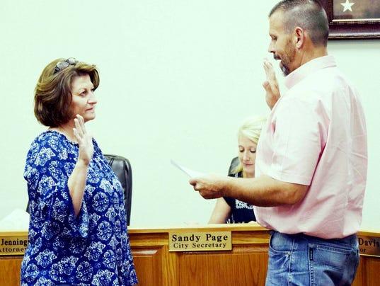 Burris oath, Bowie City Council
