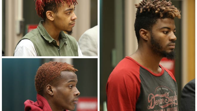 (Clockwise from top left): Terry Jackson, Demetrius Williams and Darrell Kinney appeared in Hamilton County Municipal Court on Monday.
