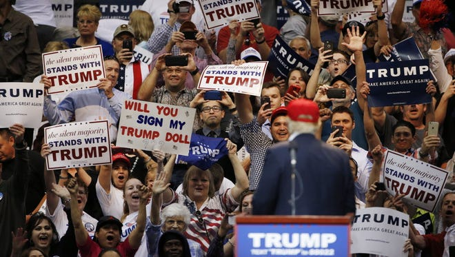 Donald Trump campaigns in Tucson on March 19, 2016.