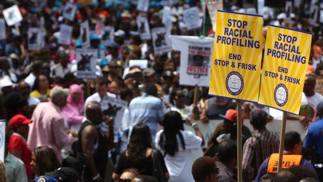 Protest in New York City in 2012.