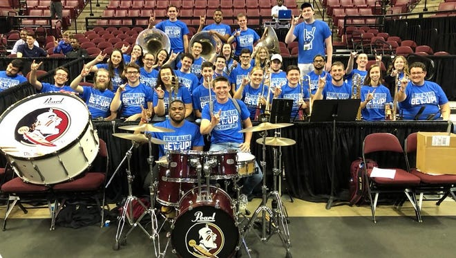 Florida State's Seminole Sound filled in for a Buffalo team without a pep band on Saturday
