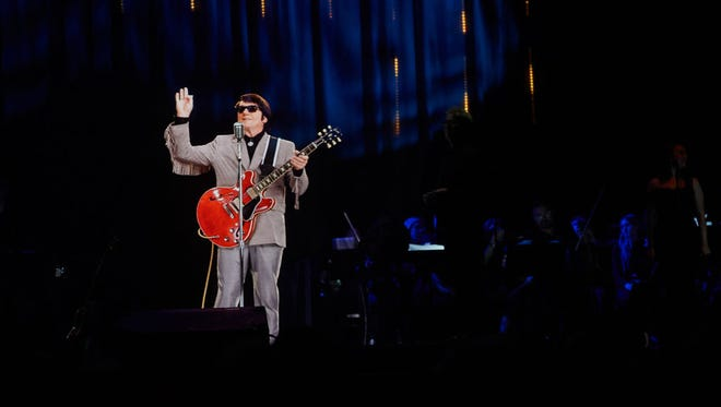 """""""In Dreams"""" - Roy Orbison in Concert during The Hologram UK Tour at Eventim Apollo on April 19, 2018 in London, England."""