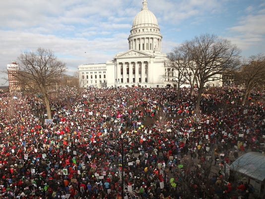 Thousands Of Demonstrators Protest Recent Passage Of Controversial Budget Bill