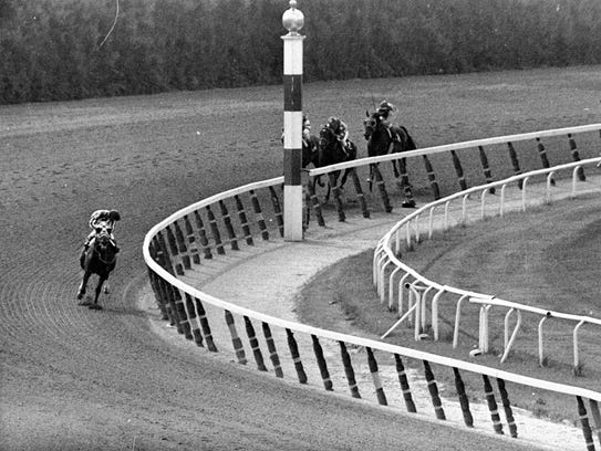 In this June 9, 1973, file photo, jockey Ron Turcotte,