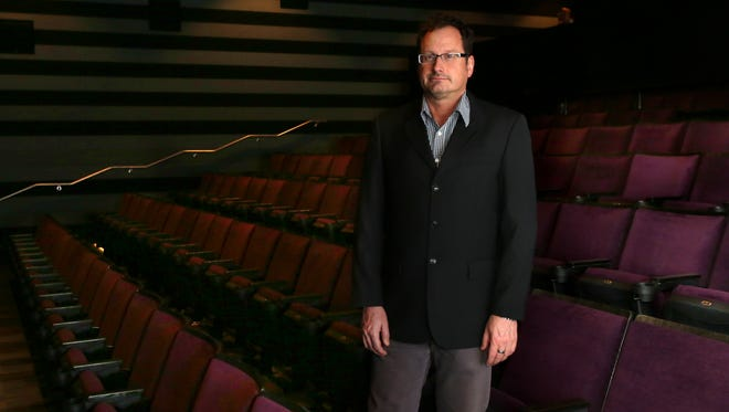 Speed Museum's film curator, Dean Otto, in the facilities new theater.