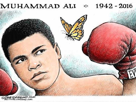 Tribute to Muhammad Ali.