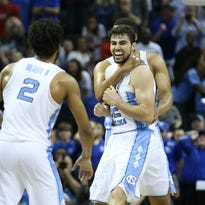 No. 1 North Carolina clips No. 2 Kentucky on last-second shot to reach the Final Four