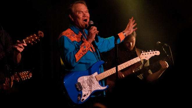 Glen Campbell performing at The Birchmere in Alexandria, Va., while on his Goodbye tour.