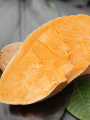 In today's recipe, sweet potatoes are used to make a silky custard.