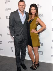 Actors Jason O'Mara, left, and Jessica Szohr attend