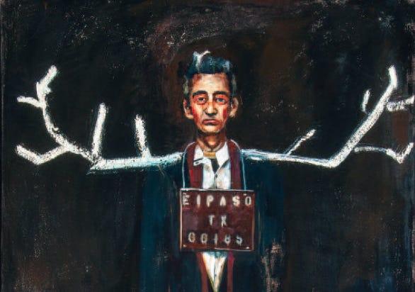 'El Paso' by John Mellencamp, mixed media on canvas (2012)