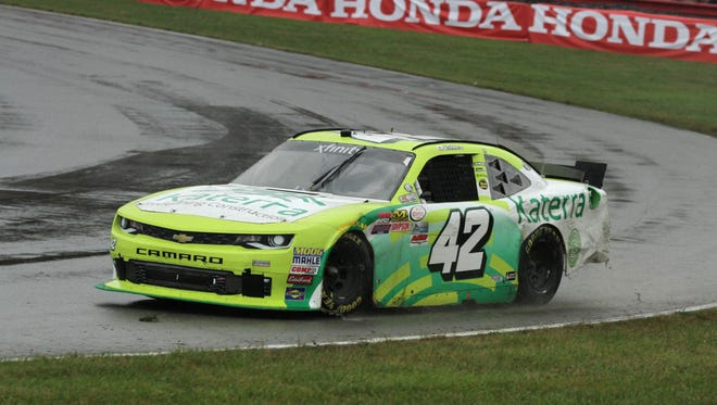 NASCAR came to the Mid-Ohio Sports Car Course on Saturday for the Mid-Ohio Challenge. Justin Marks took the checkered flag at the finish line.