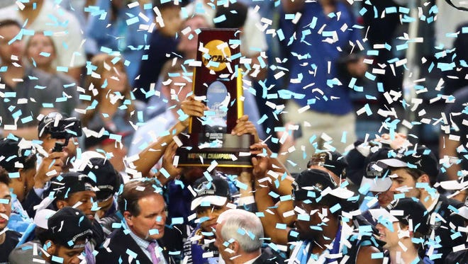 The confetti falls at the 2017 Final Four.