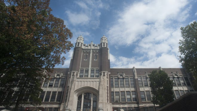 """The old Camden High School was nicknamed the """"Castle on the Hill"""" because of its majestic architecture."""