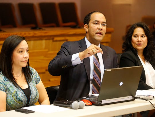 State Rep. Will Hurd addresses those in attendance