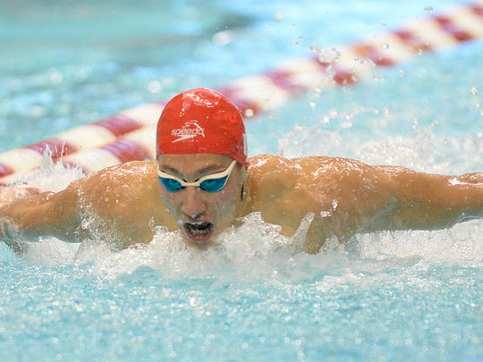 Swim & Dive vs. Cincinnati, 2015 Hoosierland Closed Invitational, 12/4