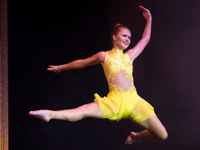 Miss Badgerland Tianna Vanderhei performs a dance in