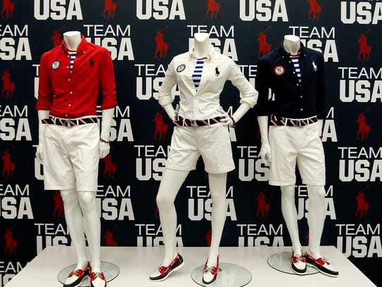 Olympic closing ceremony fashions by Polo Ralph Lauren