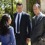 "Dean Winters portrays Det. Russ Agnew, left, and Josh Duhamel portrays Special Agent Milton Chamberlain in a scene from ""Battle Creek,"" airing Sunday at 10 p.m. EDT."