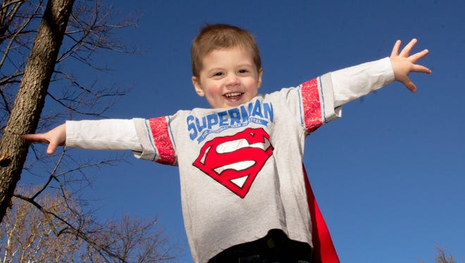 Four-year-old Kellen Weakley has used his super-hero spirit to battle stage 4 neuroblastoma for two years now.