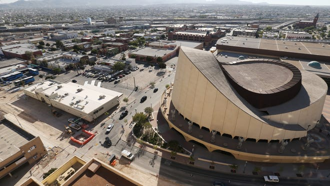 An area south of the Judson F. Williams Convention Center is the planned site of the new $180 million Downtown arena.