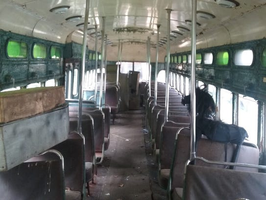 A photo shows the interior of the old Louisville Railway
