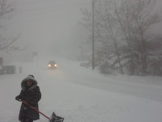 The storm that brought snow and high winds to Morris