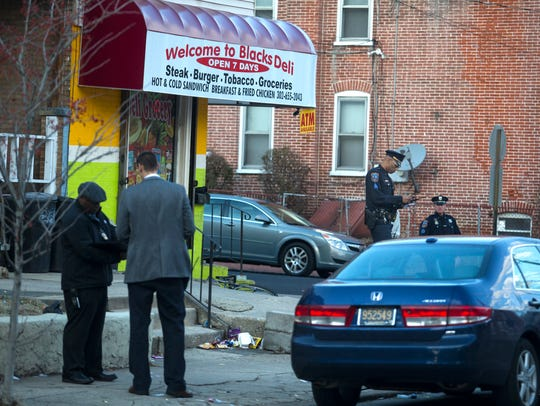 Wilmington Police investigate the scene of a shooting