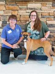 Joette Hartman, Kim Ferris-Church and Oakley the dog.