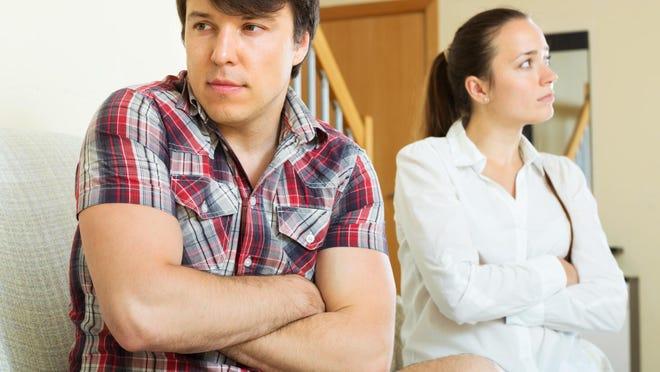 Married couple having quarrel