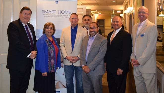 PHOTO CAPTION: Pictured at the recent Coldwell Banker Residential Brokerage Region 2 Smart Home Certification Seminar are (left to right) Hal Maxwell, Leslie Shiner, Ryan Herd, Dan Mancuso, David Siroty, Lou Redbord and Matt Case.