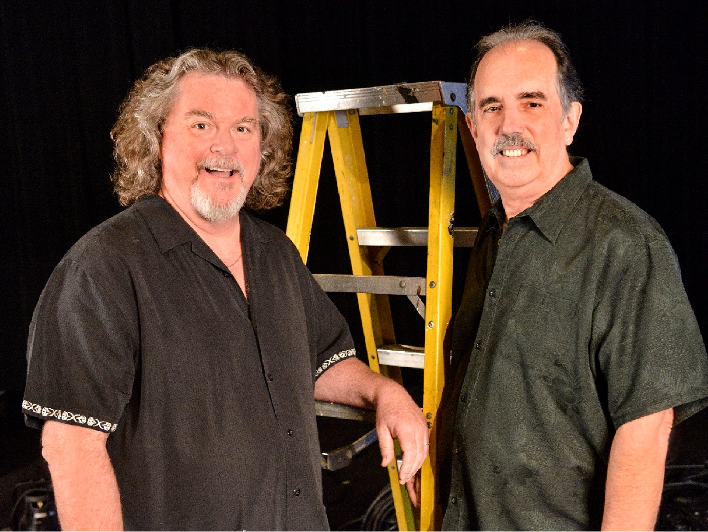 Jim Strait (left) and his producer husband, Paul Taylor, are retiring from the Desert Rose Playhouse in Rancho Mirage this season after six seasons of producing LGBTQ-themed content.