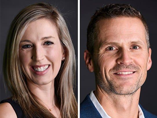 Jolene Loetscher and Paul TenHaken.