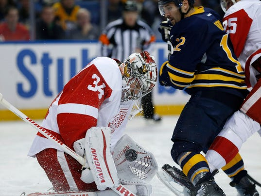 mrazek makes big stop to seal 4 3 win at buffalo. Black Bedroom Furniture Sets. Home Design Ideas
