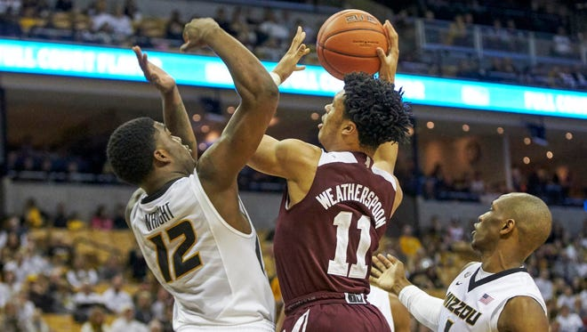 Quinndary Weatherspoon is Mississippi State's leading scorer since moving to power forward.