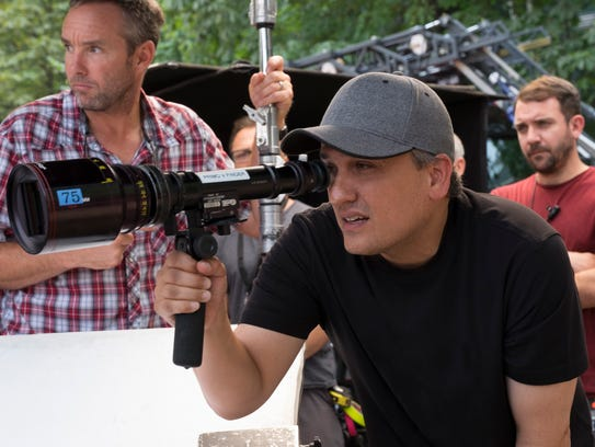 Captain America: Civil War. Director Joe Russo on set.