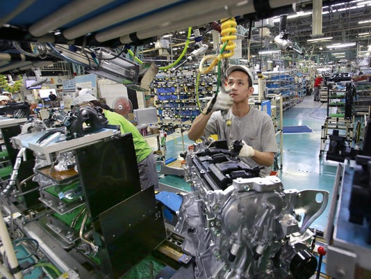 APTOPIX Japan Nissan Production