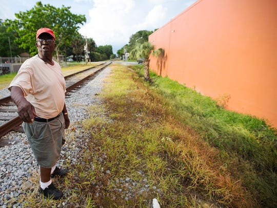 Clarence Mitchell says he hauled toxic sludge from a ditch, right, along Evans Avenue to the Home-a-rama site in Dunbar, while working as a truck driver for the city of Fort Myers almost 50 years ago.