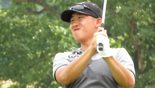Amateur Peter Kim of Metuchen shot 1-under 70 during the second round of the 102nd Met Open Championship.