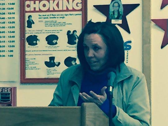 Lisa Christiansen of Horseheads tells the Horseheads