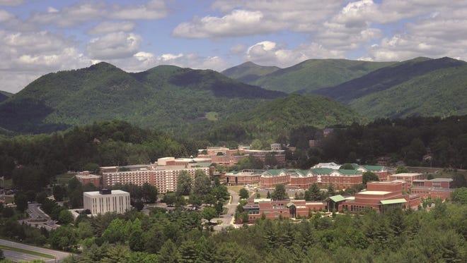 The Western Carolina University campus in Cullowhee.