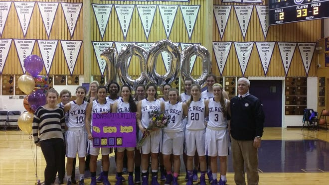 St. Rose's Jess Louro scored her 1000th career point on Tuesday