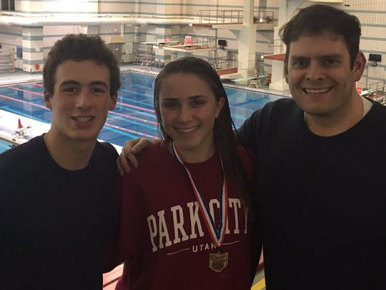 State qualifying divers Noah Vigran, left, and Annie