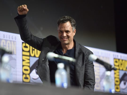 Mark Ruffalo appears at a Comic Con in this file photo.