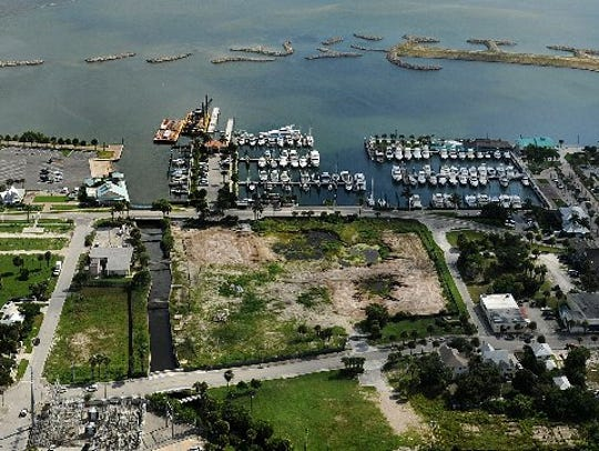 A view of the waterfront in downtown Fort Pierce shows