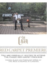 """Former MSU basketball player Delvon Roe, pictured, stars in current Spartan Keenan Wetzel's debut short film, """"The Cager."""" It will premier in a private event Monday at NCG Cinemas in Lansing."""