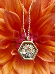 """Honeybee"" necklace by Jamie Bichler, whose work is"