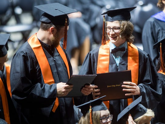Scenes from Powell High's graduation at Thompson-Boling Arena on Saturday, May 19, 2018.