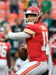 Kansas City Chiefs quarterback Alex Smith is having