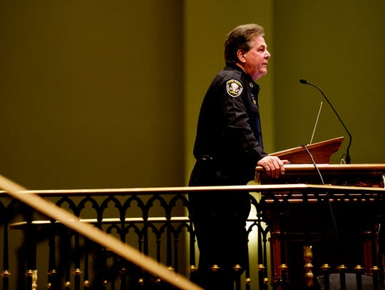 Knox County Sheriff Chief J.J. Jones speaks during